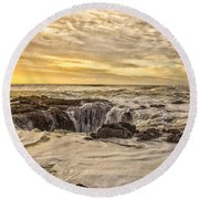Thor's Well Round Beach Towel by Billie-Jo Miller