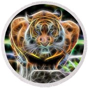Tiger Collection Round Beach Towel