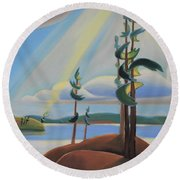 To The North Round Beach Towel