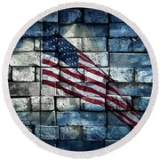 Aaron Berg Photography Round Beach Towel featuring the photograph Together We Stand by Aaron Berg