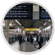 Tokyo To Kyoto, Bullet Train, Japan 3 Round Beach Towel