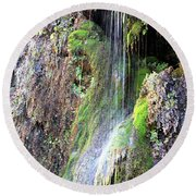 Tonto Waterfall Cave Round Beach Towel