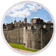 Tower Of London Round Beach Towel by Dawn OConnor