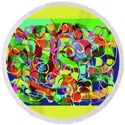 Traffic Jam Round Beach Towel