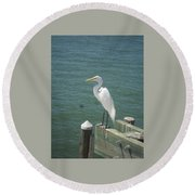 Tranquility Round Beach Towel by Val Oconnor