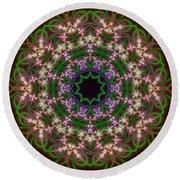 Round Beach Towel featuring the digital art Transition Flower 10 Beats by Robert Thalmeier