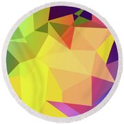 Triangle Abstract Color Round Beach Towel