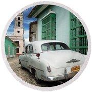 Trinidad - Cuba Round Beach Towel