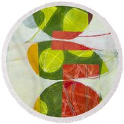 Trio Round Beach Towel by Elena Nosyreva