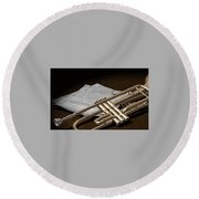 Trumpet Round Beach Towel