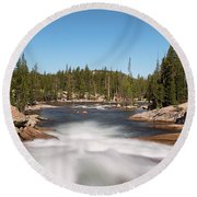 Tuolumne River Round Beach Towel