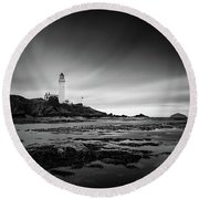 Turnberry Lighthouse Round Beach Towel