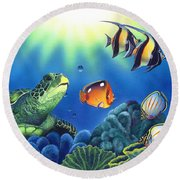 Turtle Dreams Round Beach Towel
