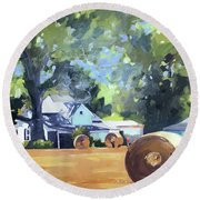 ty Round Beach Towel by Chris Gholson