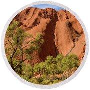 Round Beach Towel featuring the photograph Uluru 07 by Werner Padarin