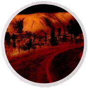 Uluru Sunrise Round Beach Towel