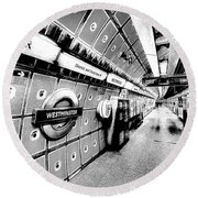Underground London Art Round Beach Towel by David Pyatt