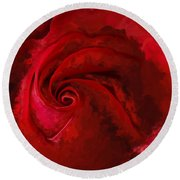 Unfurling Beauty Iv Round Beach Towel