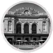 Union Station Round Beach Towel by Tim Stanley