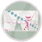 Still Motion Round Beach Towel