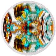 Round Beach Towel featuring the digital art Untitled Series 992.042212 -c by Kris Haas