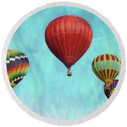 Round Beach Towel featuring the photograph Up Up And Away 2 by Benanne Stiens