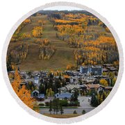 Vail Colorado Round Beach Towel