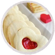 Round Beach Towel featuring the photograph Valentines Day Treats by Teri Virbickis