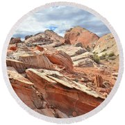 Valley Of Fire High Country Round Beach Towel by Ray Mathis