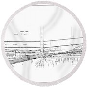 Valuation Map Boct Round Beach Towel