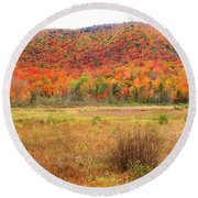 Vermont Foliage 1 Round Beach Towel
