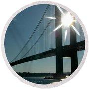 Verrazano Bridge Starburst Round Beach Towel