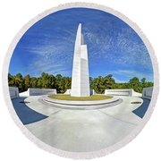 Veterans Freedom Park, Cary Nc. Round Beach Towel by George Randy Bass