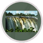 Victoria Falls Round Beach Towel