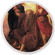 Victory O Lord Round Beach Towel