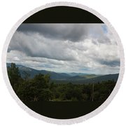 Round Beach Towel featuring the photograph View From Mount Washington by Suzanne Gaff