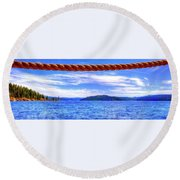 Round Beach Towel featuring the photograph View From The Resort 6799 by Jerry Sodorff