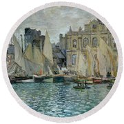View Of Le Havre Round Beach Towel