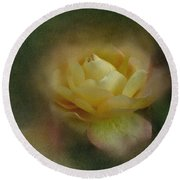 Round Beach Towel featuring the photograph Vintage October Rose  by Richard Cummings