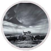 Round Beach Towel featuring the photograph Virxe Do Porto Meiras Galicia Spain by Pablo Avanzini