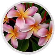 Round Beach Towel featuring the photograph Wailua Sweet Love by Sharon Mau