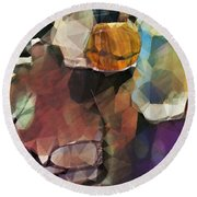 Waiting Round Beach Towel by Kathie Chicoine