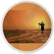Walk Round Beach Towel by Charuhas Images