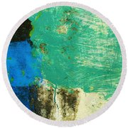 Wall Abstract 70 Round Beach Towel