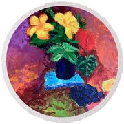 Warm Combination Round Beach Towel
