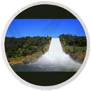 Round Beach Towel featuring the photograph Water by AJ Schibig