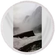 Round Beach Towel featuring the photograph Waterfall by Raymond Earley