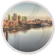 Waterfront Wonder  Round Beach Towel