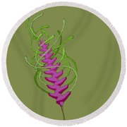 whEAT alien FUCsia I Round Beach Towel