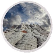 Round Beach Towel featuring the photograph Where Heaven Meets Earth 2 by Bob Christopher